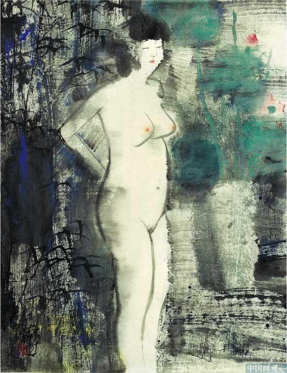 黑白线条时尚现代美女人物画